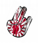 Distressed Aged THE SHOCKER HAND With Rising Sun Flag Motif Car sticker decal JDM Drift Style 115x80mm